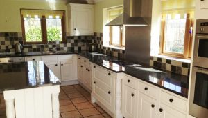 newly painted kitchen in cream