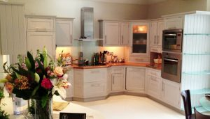 complete hand painted kitchen