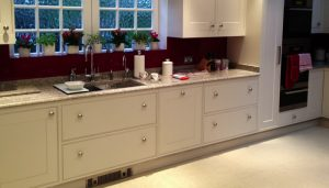 large modern kitchen drawers