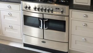 double cooker in a newly painted kitchen