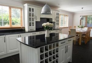 kitchen units hand painted in white